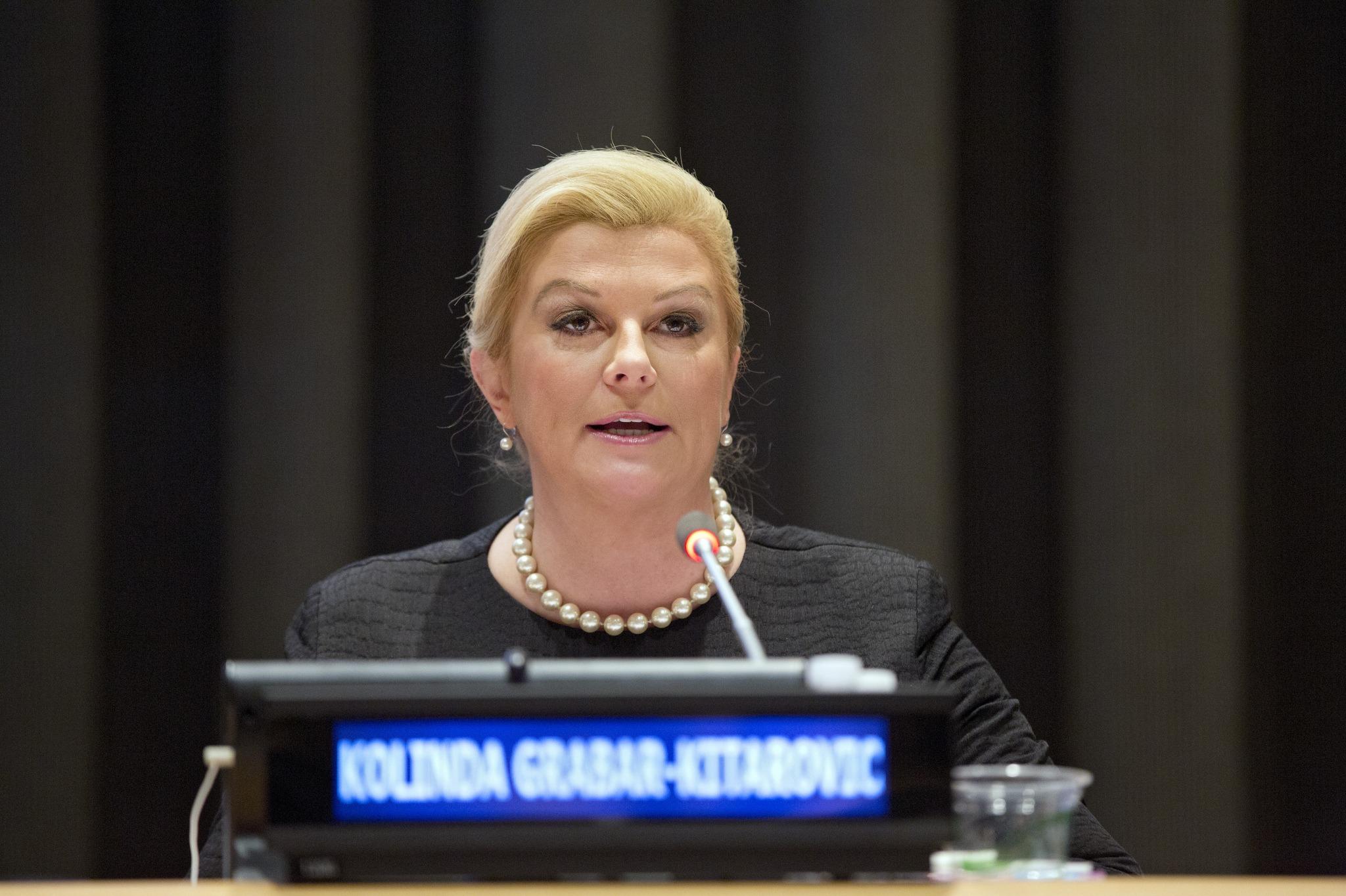 Kolinda Grabar-Kitarović becomes Croatia's first female